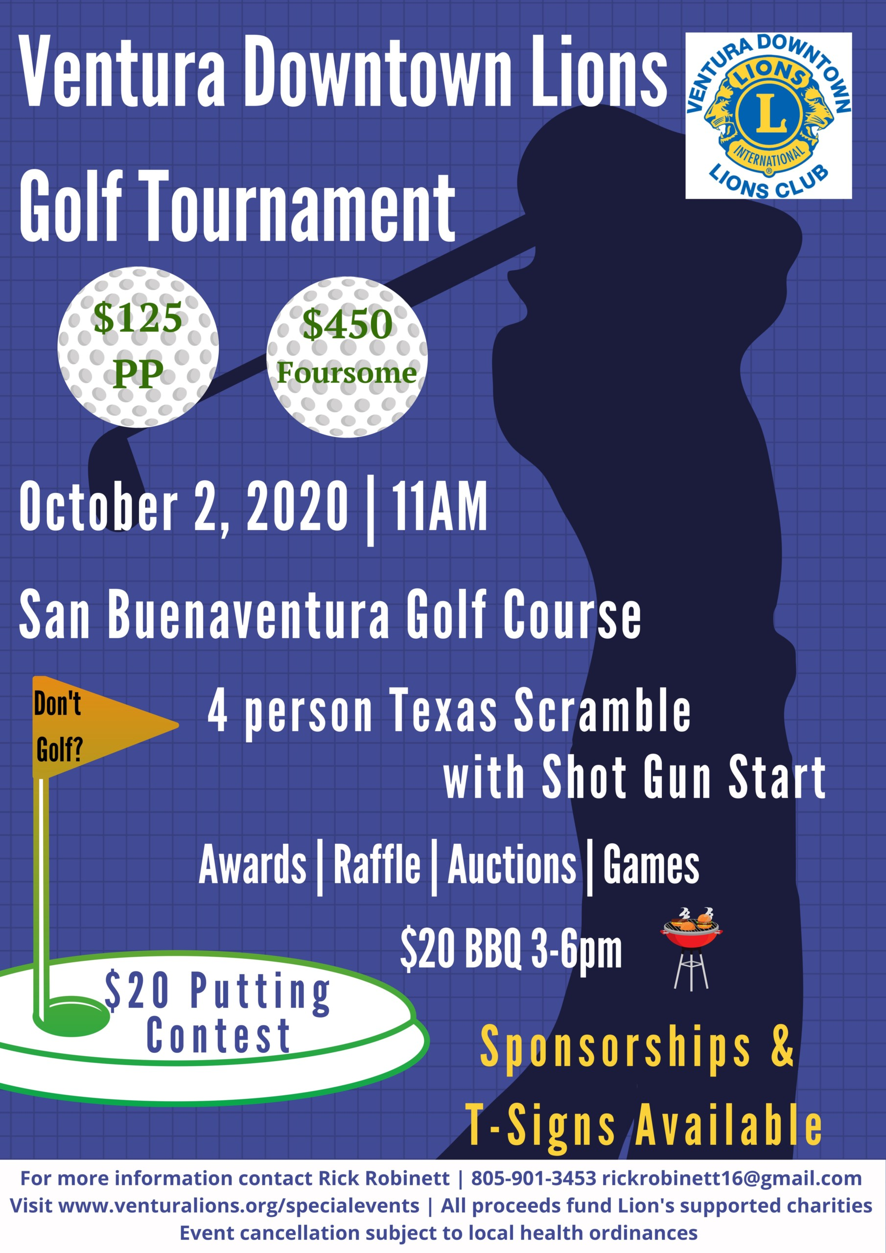 Ventura Lions Golf Tournament 2020