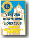 Ventura Downtown Lions Club Events Logo