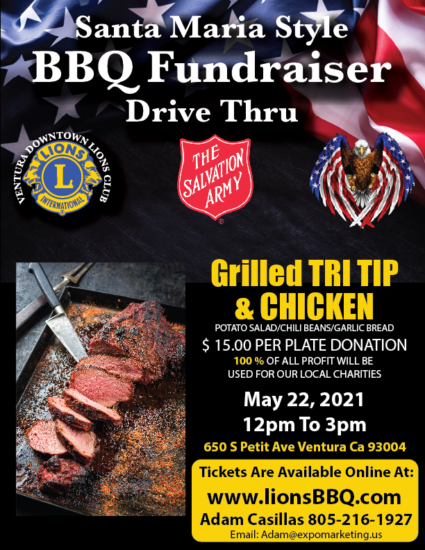 Lions BBQ Salvation Army Fundraiser May 2021